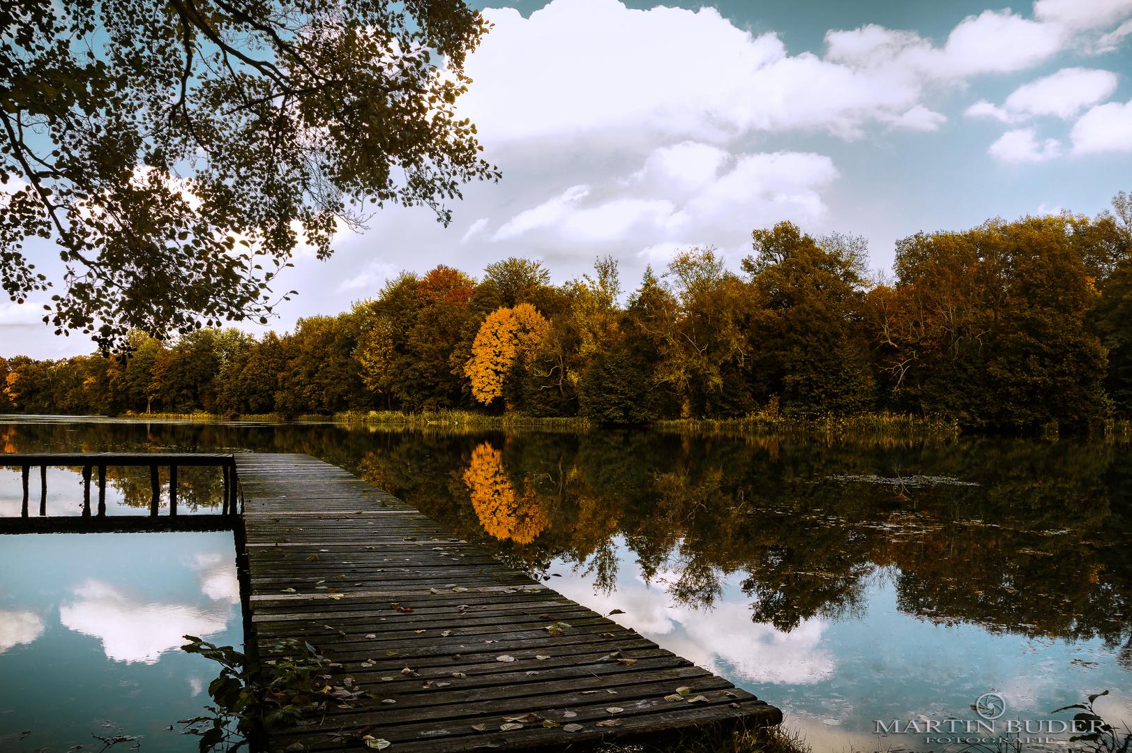 Teich im Schloßpark Altdöbern