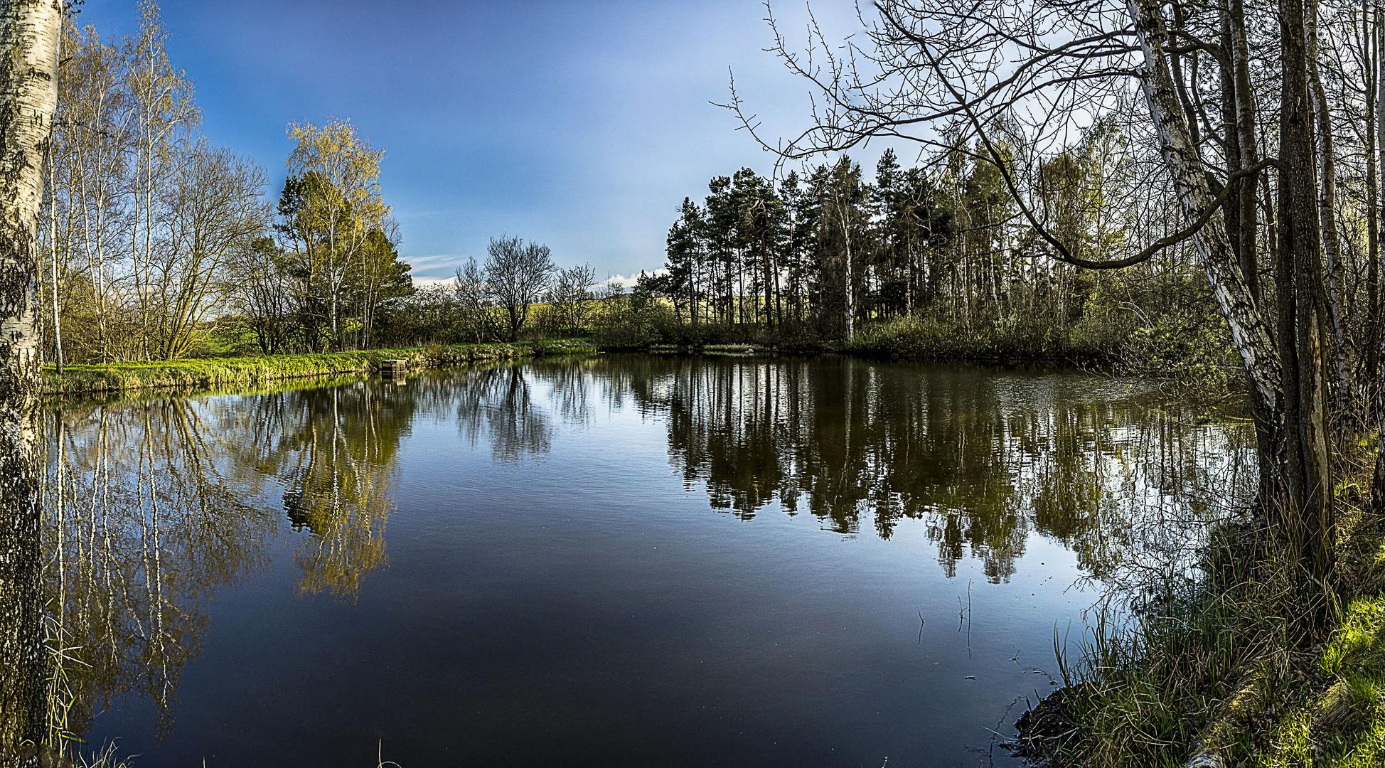 Teich zwischen Schlettau und Hermannsdorf