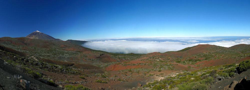 Teide mit Passat - Wolken