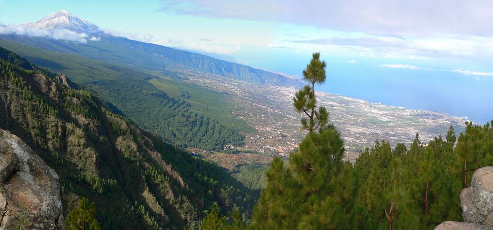 Teide mit Puerto de la Cruz