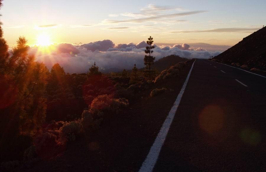 Teide National Park - Strasse nach Santiago del Teide-Sunset