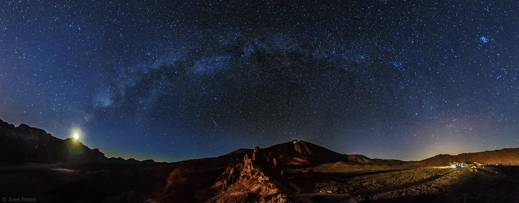 Teide-Nationalpark bei Monduntergang