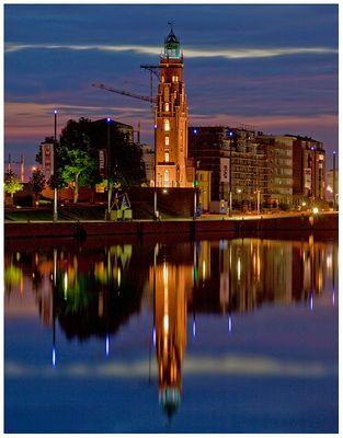 """Teil --20--: Havenwelten Bremerhaven am 28.5.2012 """"Abendstimung am Loschenturm"""""""