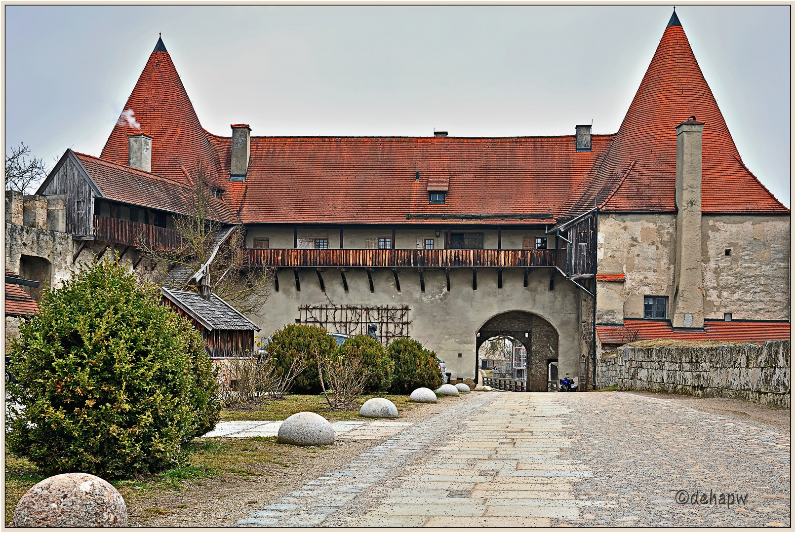 Teil der Burganlage Burghausen/Bayern