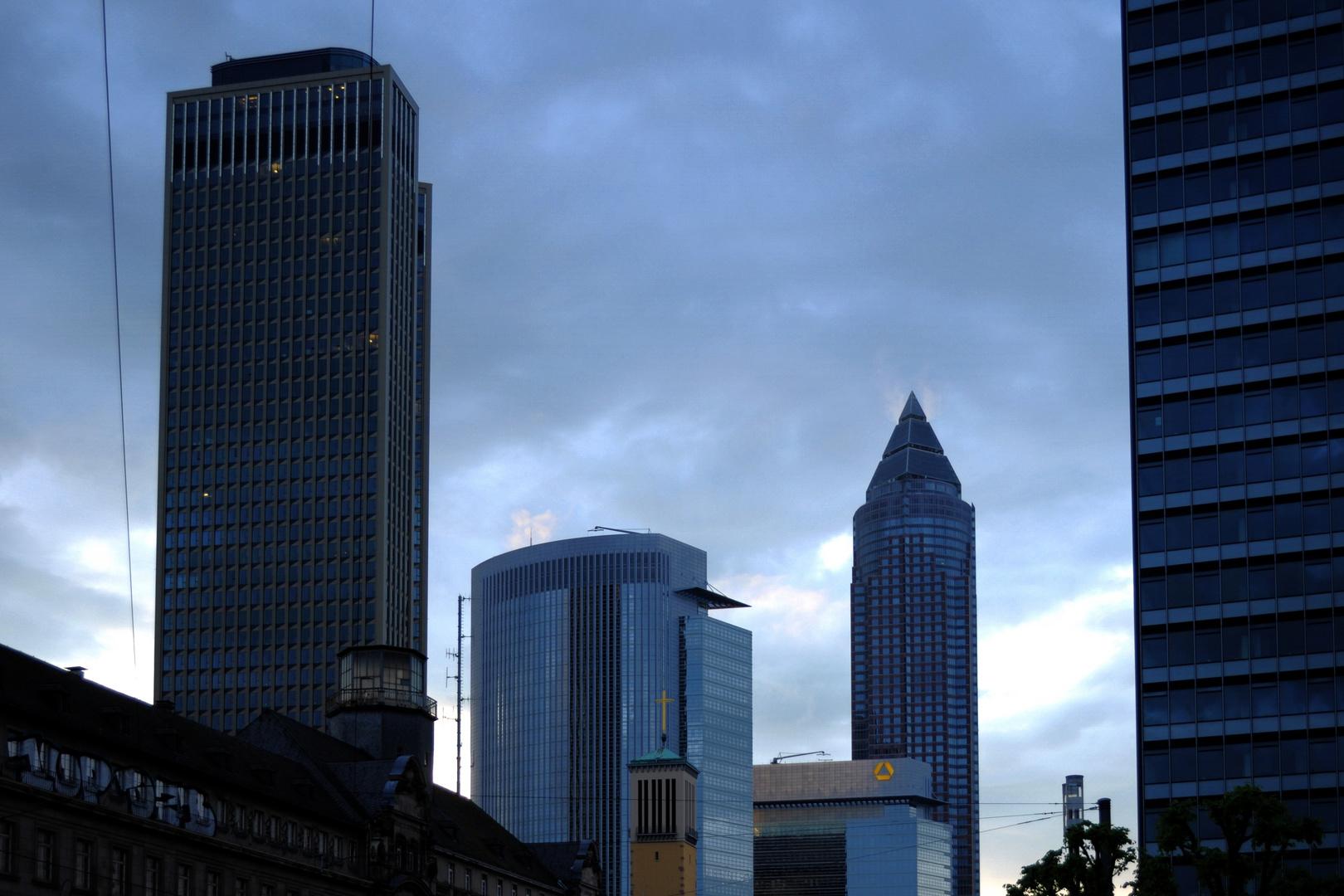 Teil der Skyline in Frankfurt