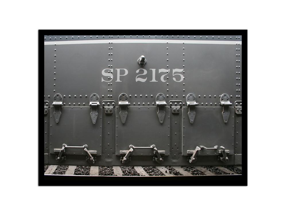 Teil eines Personenzugwaggons der Southern Pacific- Linie