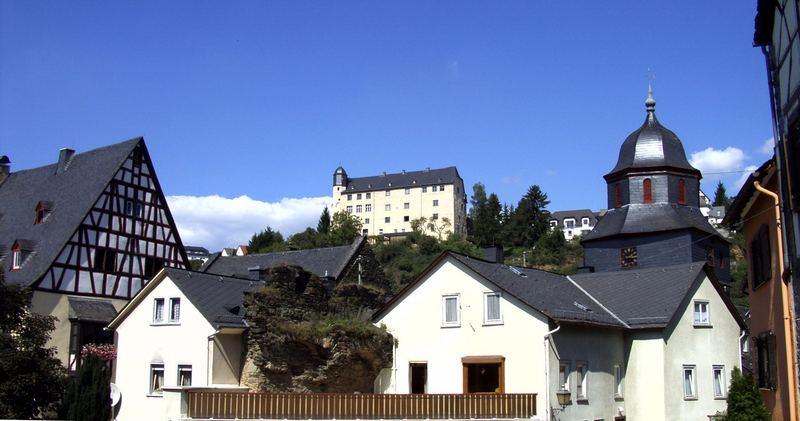 Teilansicht der Runkler Altstadt - Vue partielle de la vieille ville de Runkel