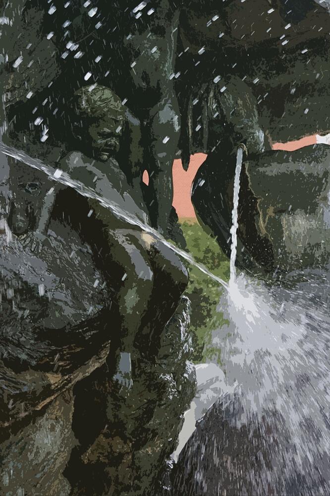 Teilansicht. Neptunbrunnen