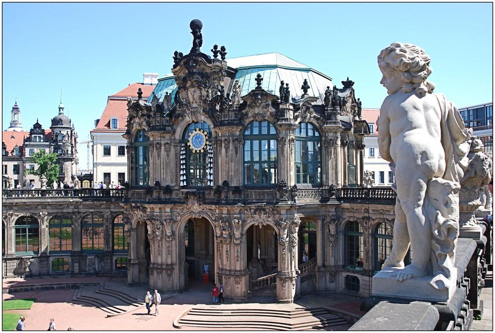 Teilansicht Zwinger in Dresden
