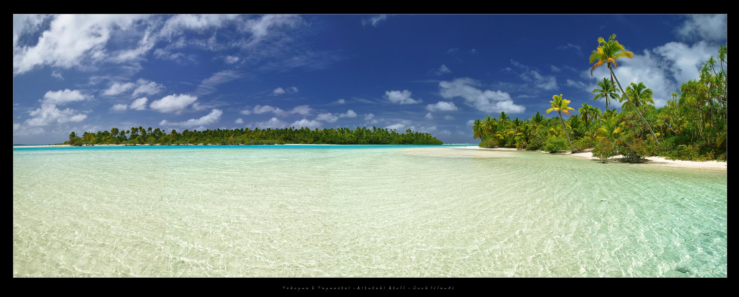 """Tekopua & Tapuaetai """"One Foot"""" Island - Aitutaki Atoll - Cook Islands 2011"""