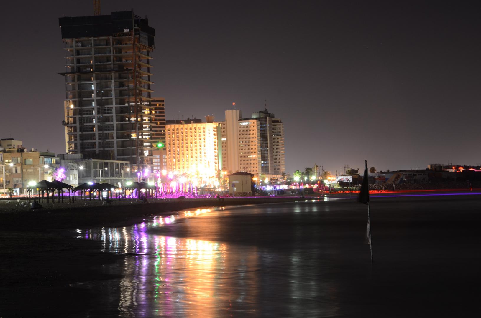 Tel Aviv Nachtaufnahme