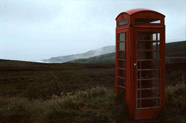 Telefonzelle in den Highlands