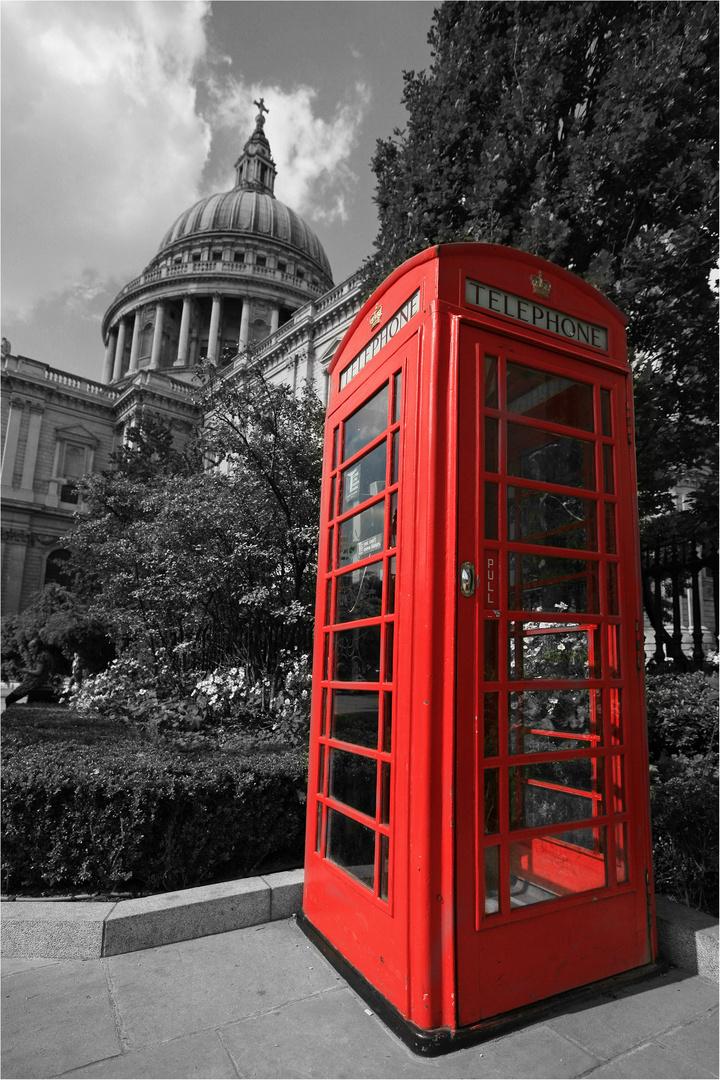 Telephone box..