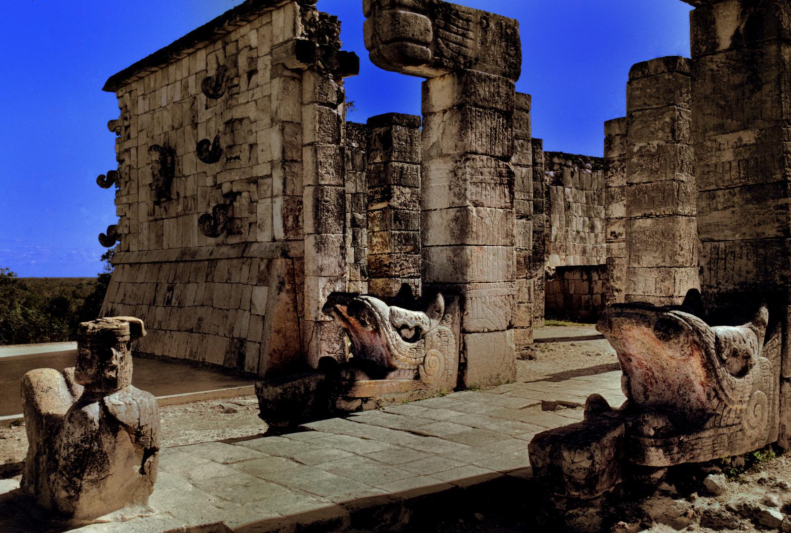Tempel der Krieger in Chichén Itza