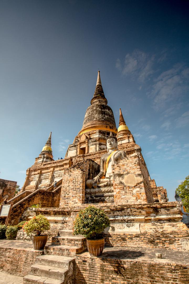 Tempel in der alten Königsstadt Ayutthaya
