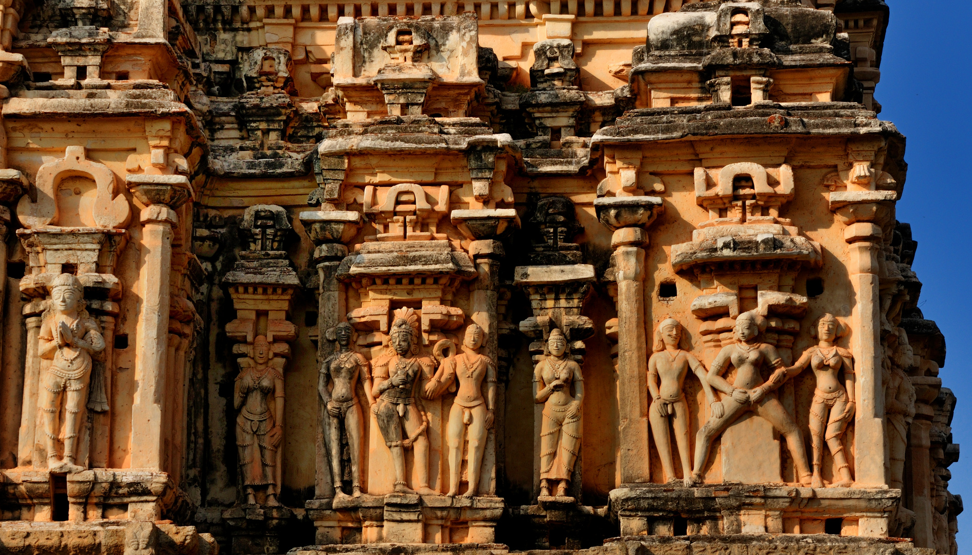 Tempelkunst in Hampi