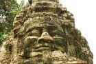 Tempelskulpturen in Angkor, Cambodja