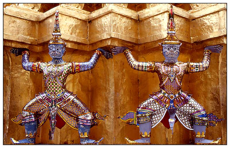 Tempelwächter - Wat Phra Kaeo, Bangkok