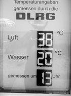 Temperaturen von der Hitzewelle auf Hiddensee