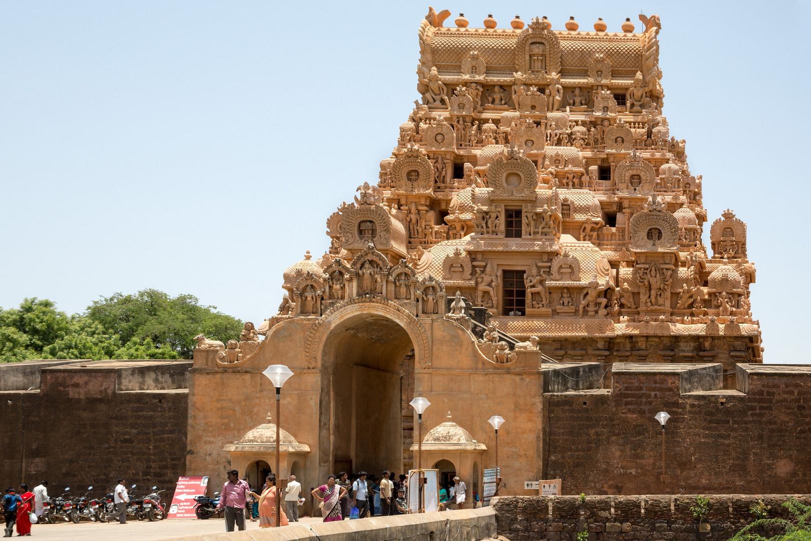 Temple de Brihadesvara dans la ville de Thanjavûr, plus connu sous le nom de Tanjor