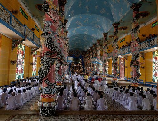 Templo de Tay Ninh (Cao Dai)