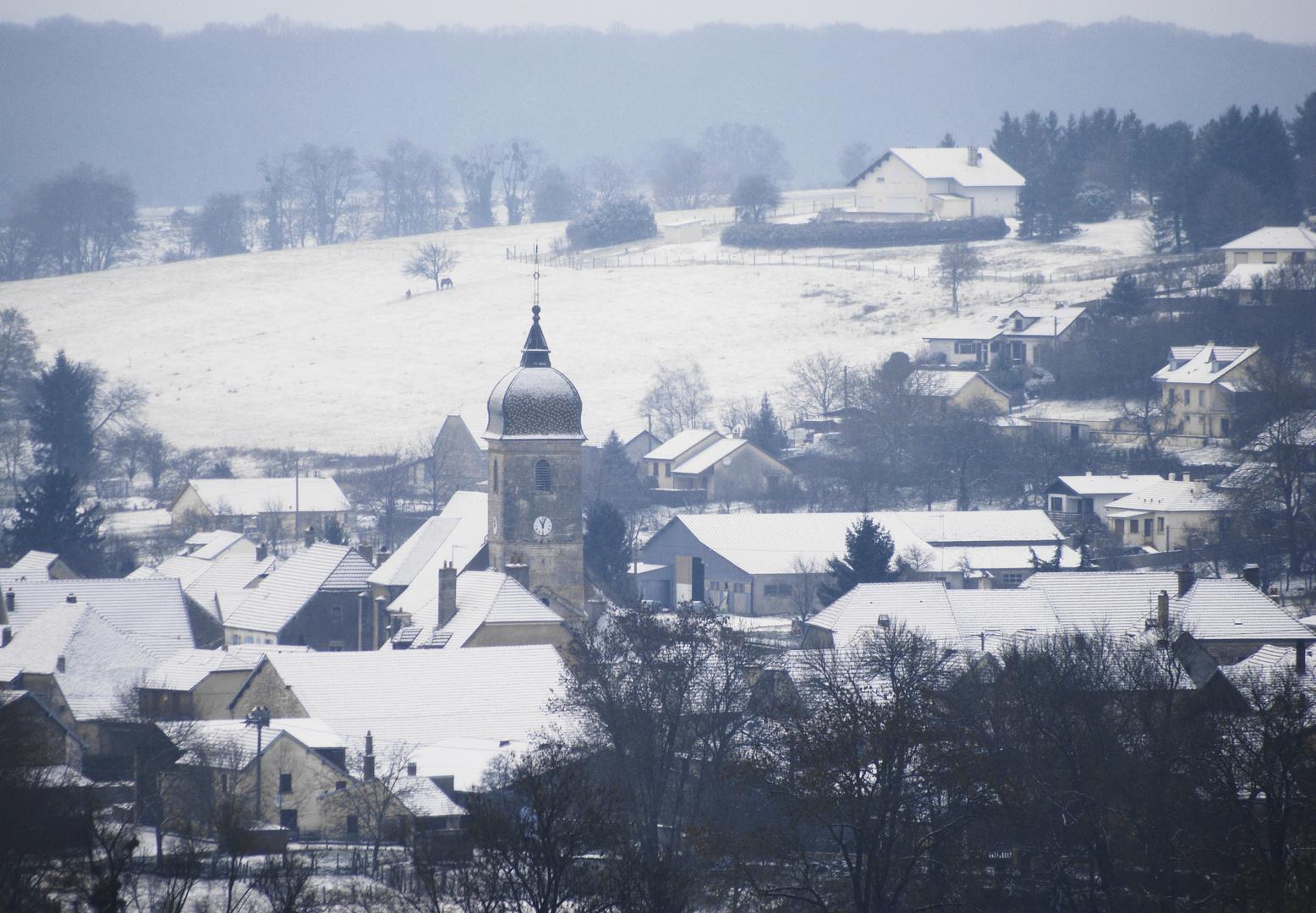 Temps de neige sur Soing Ht Saône