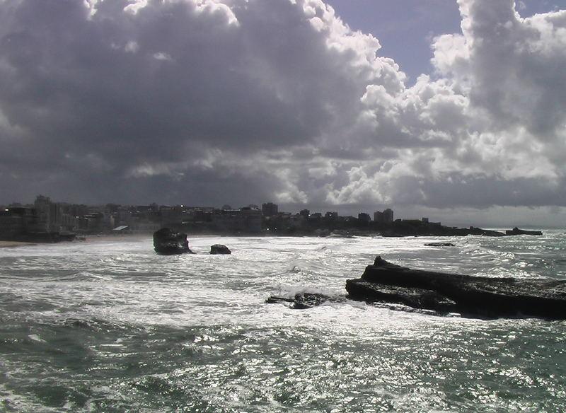 Temps gris sur Biarritz