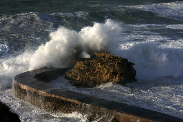 Tempête à Biarritz