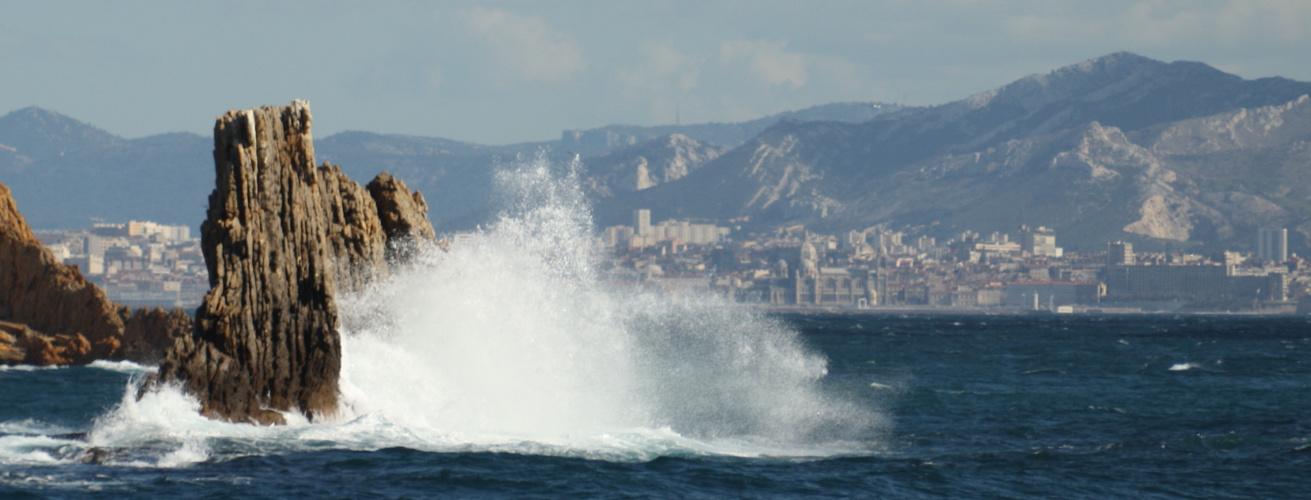Tempête au large de Marseille
