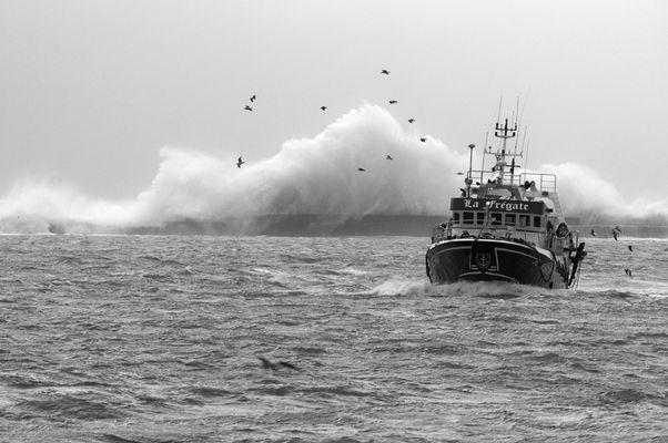 Tempête sur Boulogne sur mer