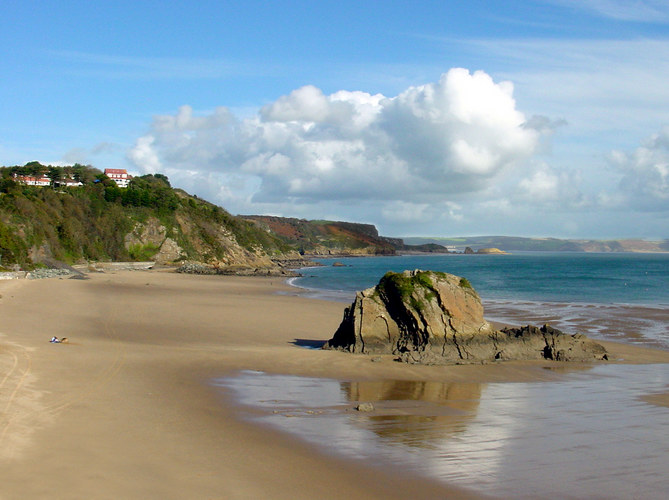 Tenby, Wales Autumn afternoon