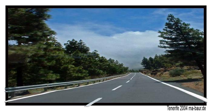 Teneriffa auf der Fahrt vom Teide nach Puerto de la Cruz.