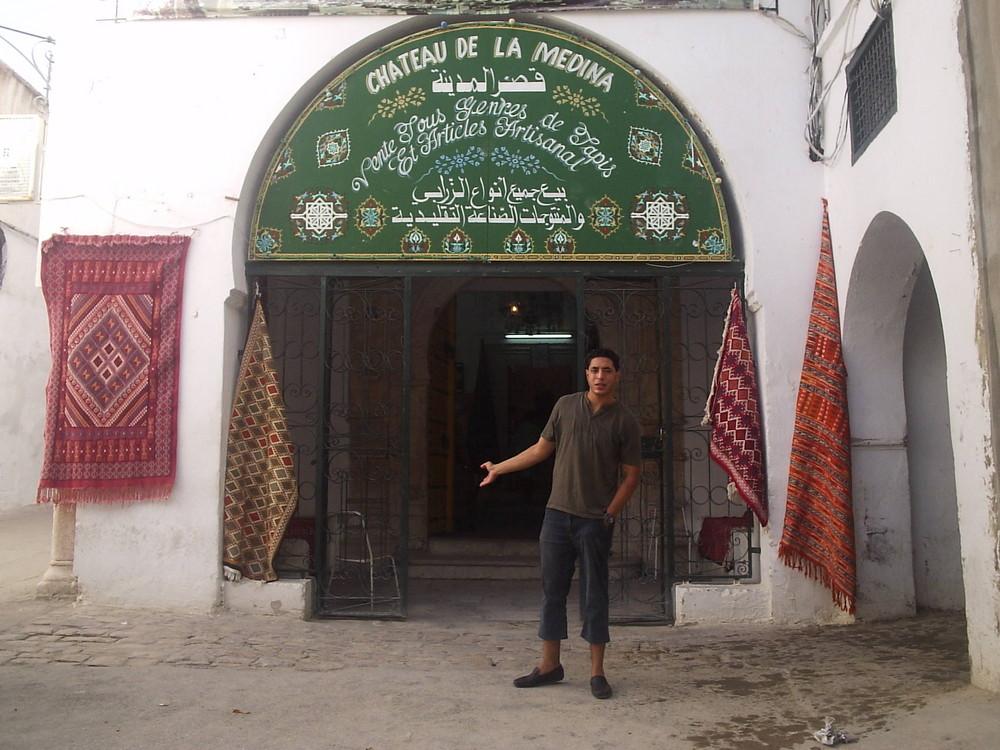 Tepichverkäufer in Tunis