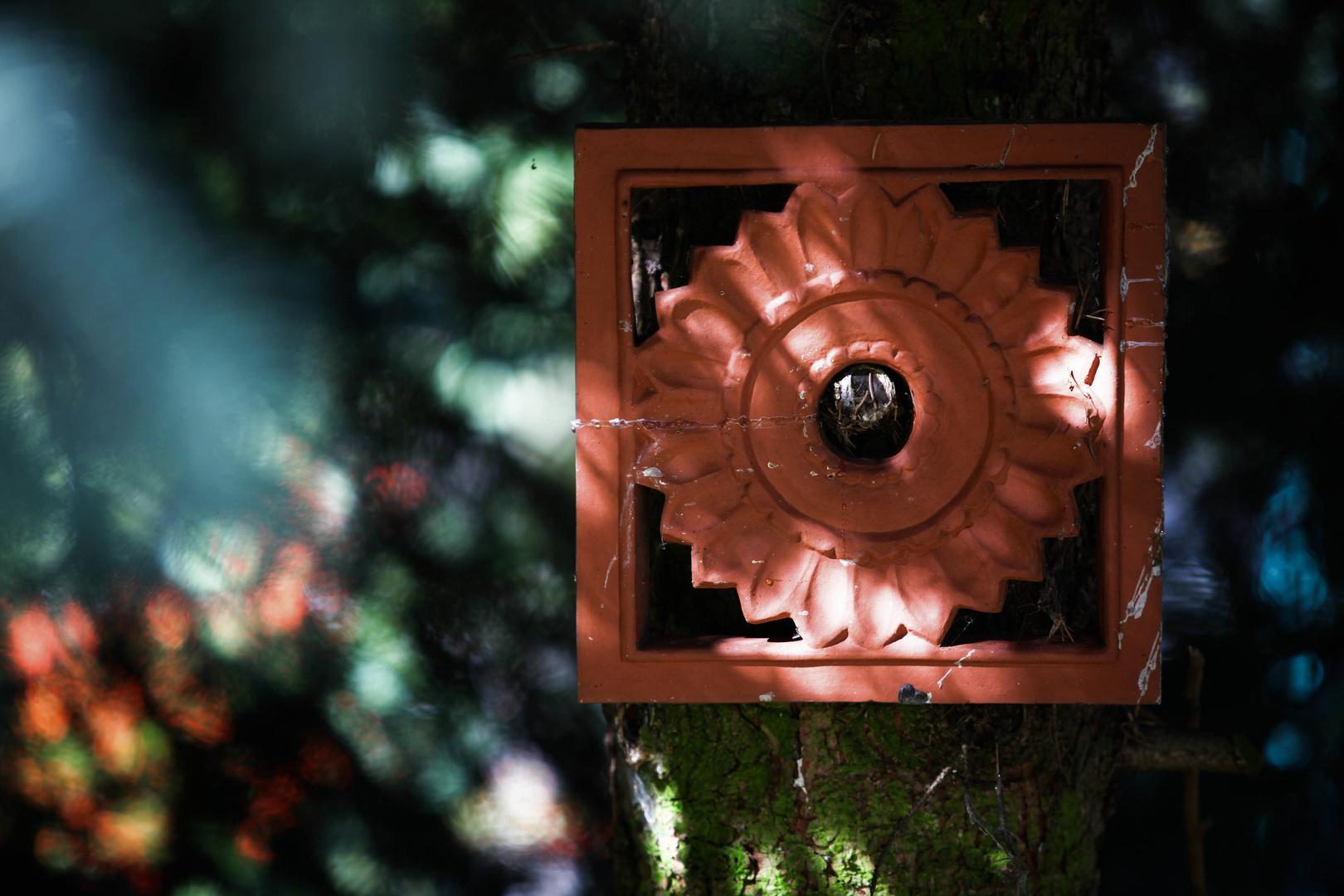 Terrakotta am Baum