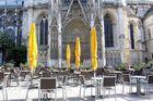 Terrasse au pied de la cathédrale Rouen