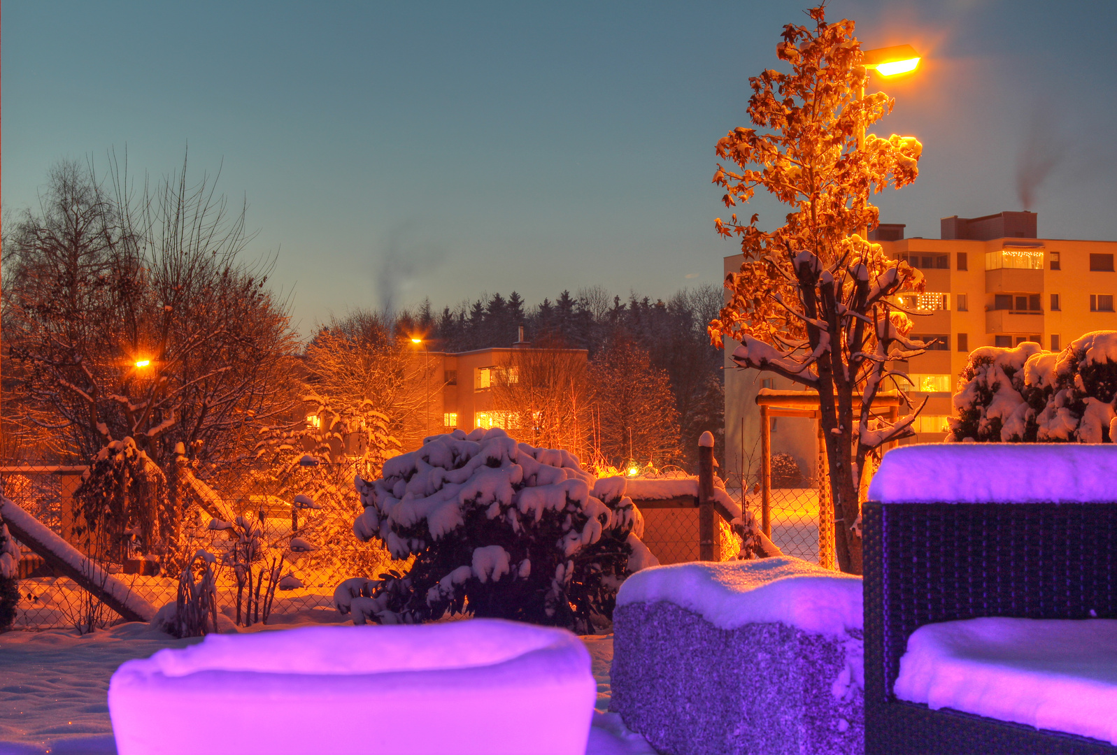 Terrasse by night (HDR)