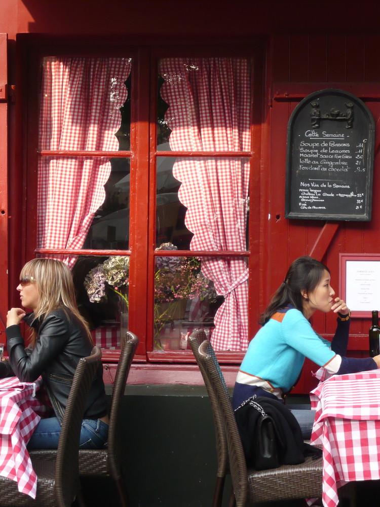 Terrasse de café à Montmartre