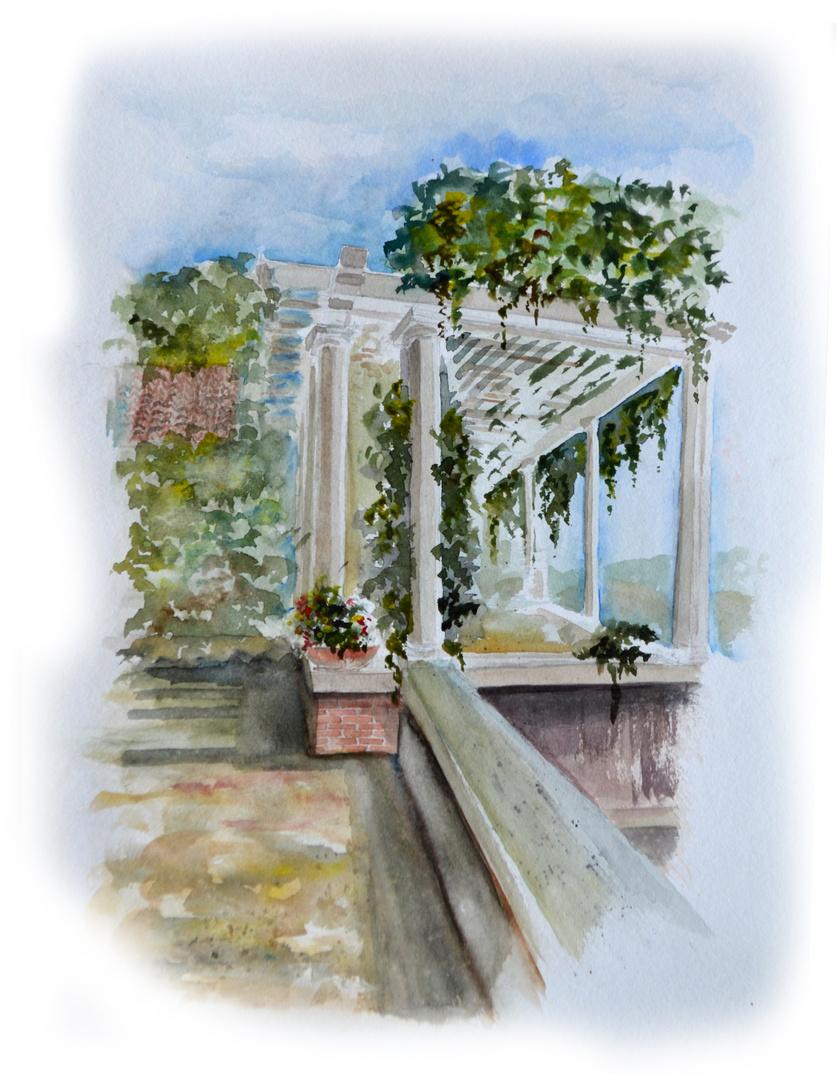 Terrasse der Villa del Monte