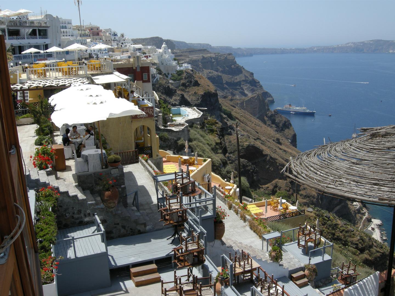 Terrazas en Santorini