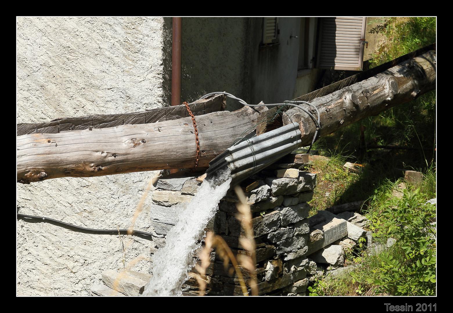 Tessin 2011 Valle Onsernone Technik des Wasserbaus