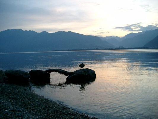 Tessin - Vira (Schweiz) der Luganosee