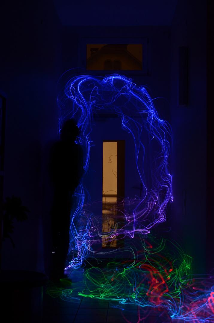 test des neuen lightpainter / man in black