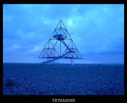 Tetraeder Blau