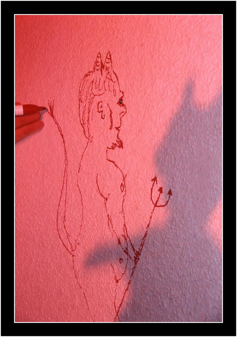 Teufel an der Wand