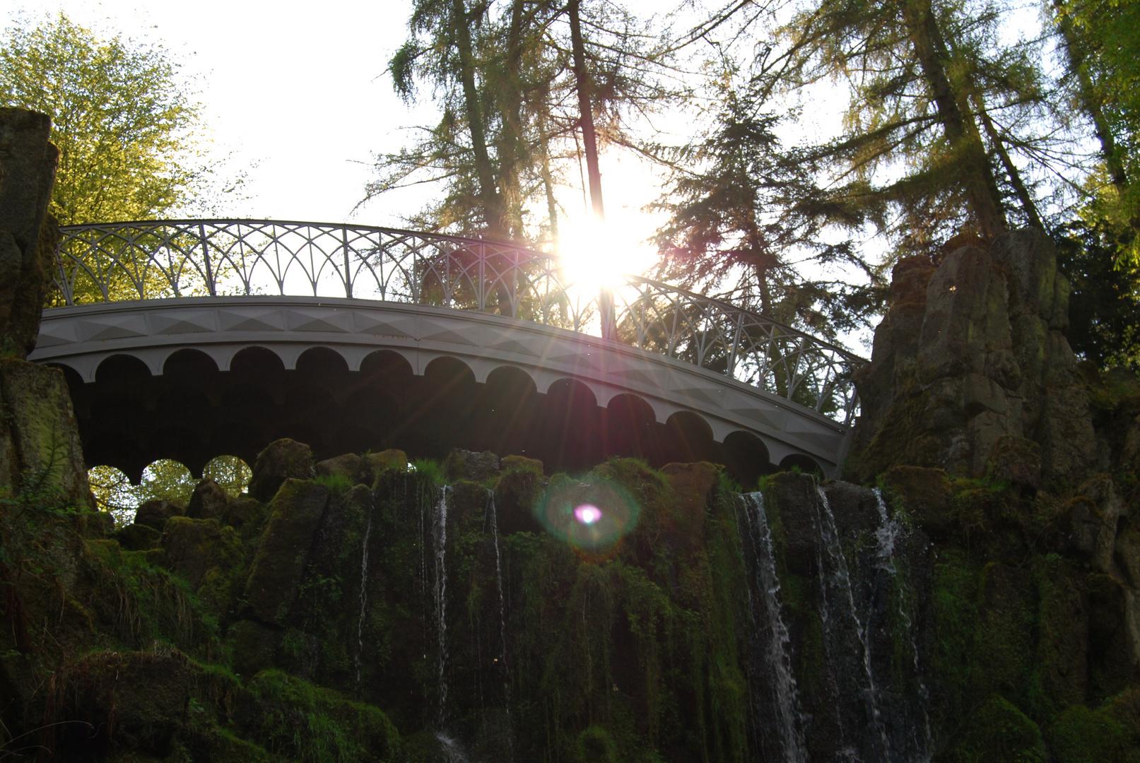 Teufelsbrücke im Morgenlicht
