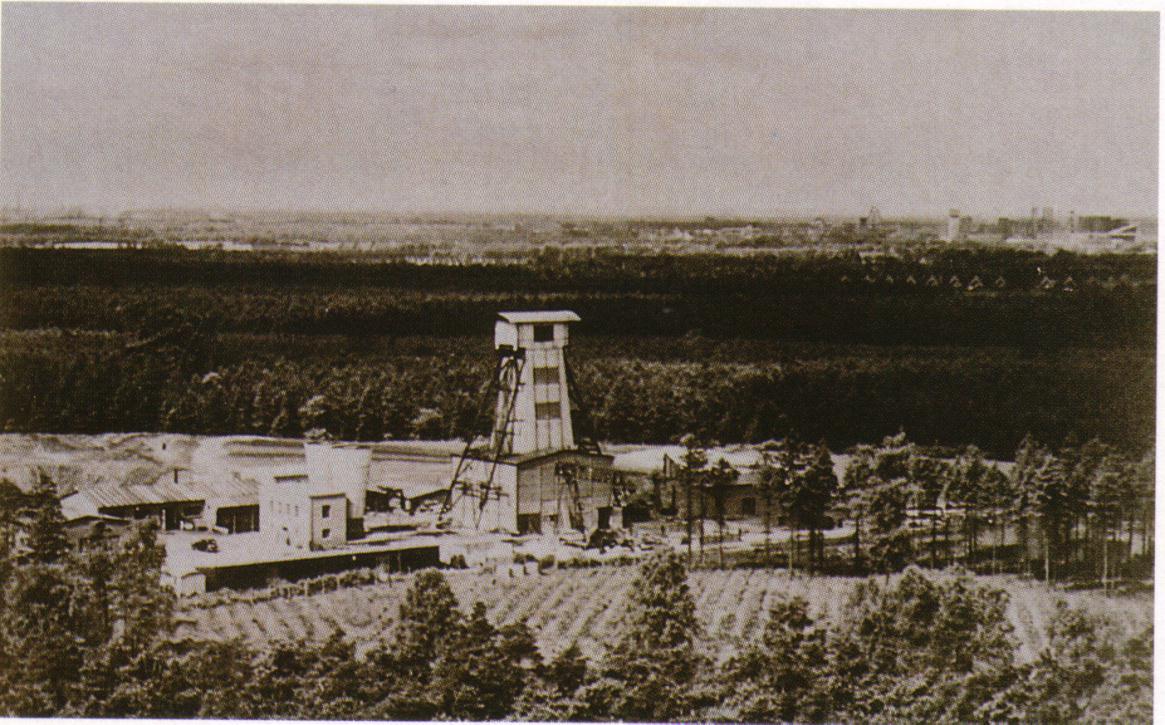 Teufgerüst Bergwerk AV 6