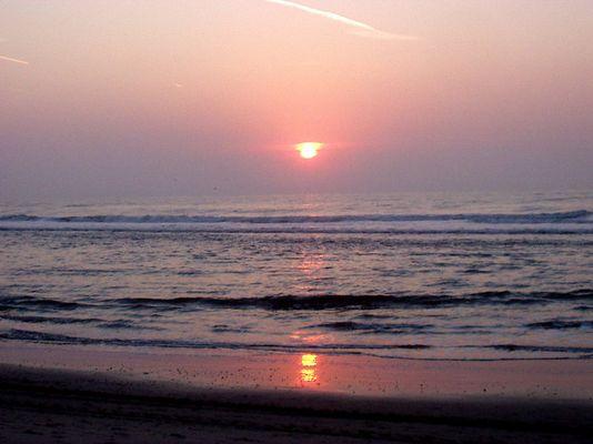 Texel Sonnenuntergang September 2003