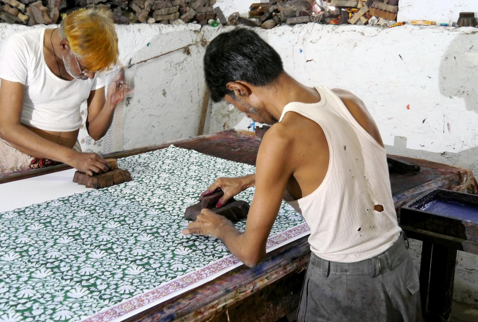 Textilwerkstatt in Jaipur
