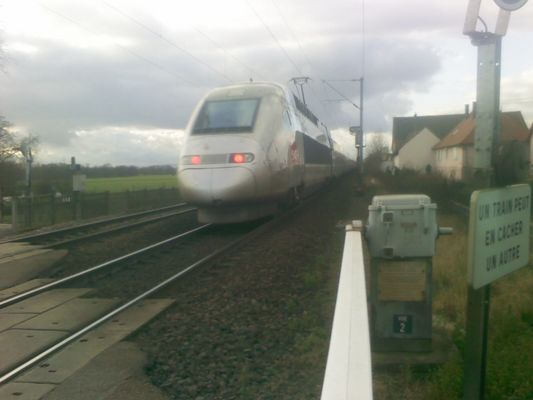 TGV 4414 à schwindratzheim (le dernier)