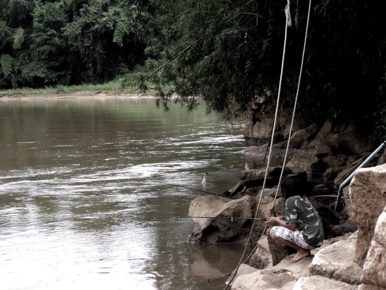 Thai beim angeln